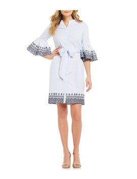 Bridgette Bell Sleeve Stripe Dress by Cremieux