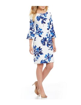 Bell Sleeve Floral Dress by Jessica Howard