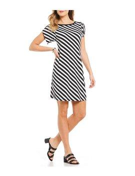 Michael Michael Kors Diagonal Stripe Print Matte Jersey Dress by Michael Michael Kors