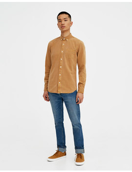 Camisa Denim Colores by Pull & Bear