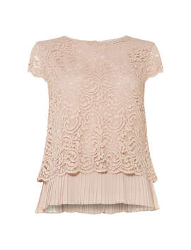 Phase Eight Lexie Lace Blouse, Blush by Phase Eight