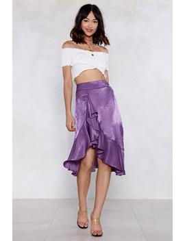 Cause A Ruffle Midi Skirt by Nasty Gal