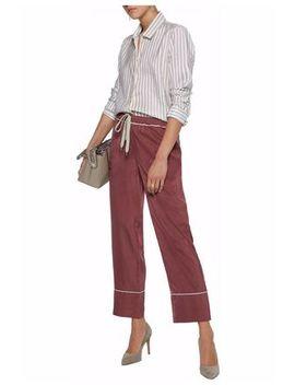 Silk Wide Leg Pants by Marni