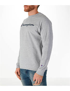 Men's Champion Classic Graphic Long Sleeve T Shirt by Champion