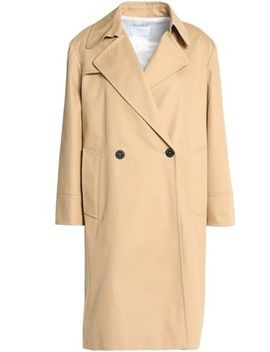 Double Breasted Cotton Gabardine Coat by Sandro Paris