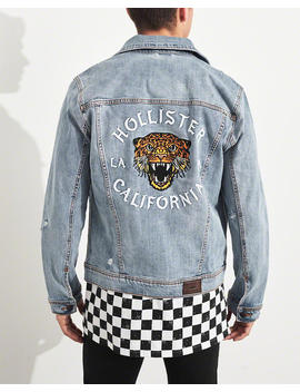 Embroidered Denim Jacket by Hollister