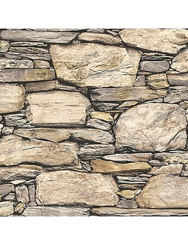 Nu Wallpaper™ Hadrian Stone Wall Peel And Stick Wallpaper by Bed Bath And Beyond