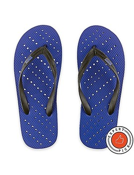 Unisex Small Diagonal Hole Aqua Flops Shower Shoes In Royal Blue by Bed Bath And Beyond