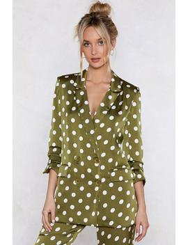 Going Somewhere Green Polka Dot Blazer by Nasty Gal