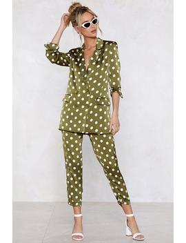 Going Somewhere Green Polka Dot Pants by Nasty Gal