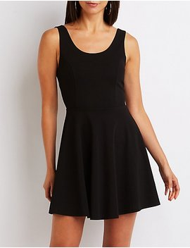 Wired Back Skater Dress by Charlotte Russe