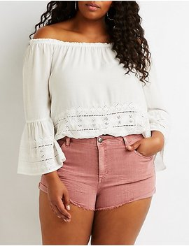 Plus Size Refuge Shortie Denim Shorts by Charlotte Russe