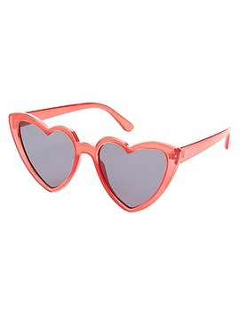 Heart Shape Sunglasses by Charlotte Russe