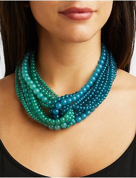 Layered Beaded Necklace by Charlotte Russe