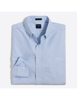 Slim Striped Washed Shirt In End On End Cotton by J.Crew