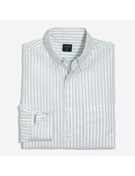 Striped Washed Shirt In End On End Cotton by J.Crew