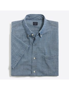 Slim Short Sleeve Flex Chambray Shirt by J.Crew