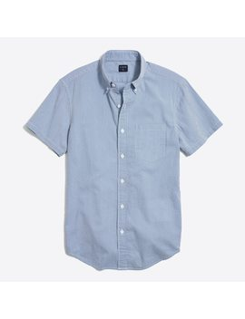 Slim Fit Short Sleeve Seersucker Shirt by J.Crew