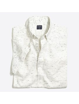 Short Sleeve Marled Cotton Shirt by J.Crew