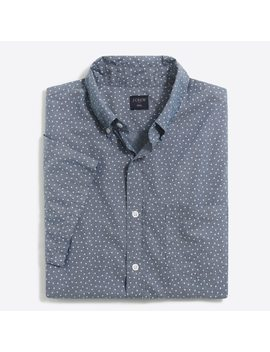 Slim Short Sleeve Printed Chambray Shirt by J.Crew