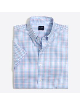 Slim Short Sleeve Flex Washed Shirt by J.Crew