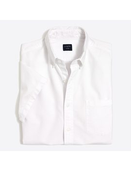 Slim Fit Short Sleeve Flex Oxford Shirt by J.Crew