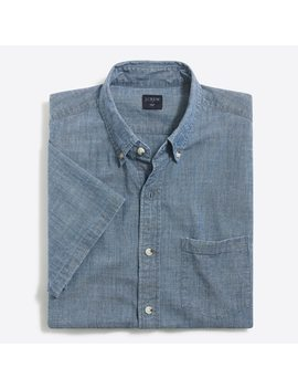 Flex Short Sleeve Chambray Shirt by J.Crew