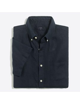 Short Sleeve Linen Shirt by J.Crew