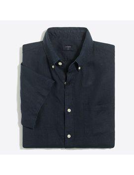 Short Sleeve Linen Shirt by J.Crew