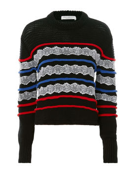 Lace Detail Striped Sweater by Philosophy Di Lorenzo Serafini