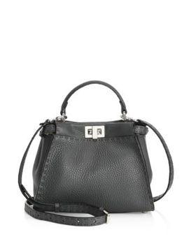 Selleria Mini Peekaboo Two Tone Leather Tote by Fendi
