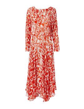 Silk Floral Print Dress by Preen By Thornton Bregazzi