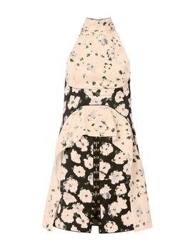 Mock Neck Pink Floral Dress by Proenza Schouler
