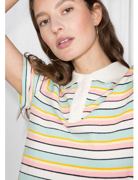 Striped Polo T Shirt by & Other Stories