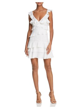 Lace Inset Ruffled Dress   100 Percents Exclusive  by Bardot