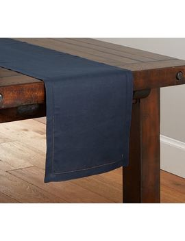 Pb Classic Table Runner   Sailor Blue by Pottery Barn
