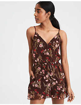 Ae Strappy Wrap Skirty Romper by American Eagle Outfitters