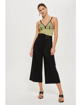 Bonded Cropped Wide Leg Pants by Topshop