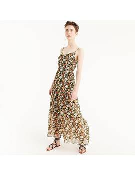 J.Crew Mercantile Tiered Maxi Dress In Sweet Pea Floral by J.Crew