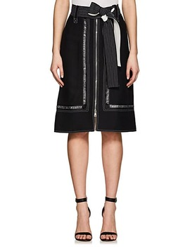 Crepe Belted Skirt by Derek Lam
