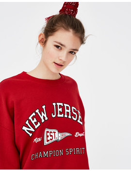 Sudadera College Con Texto by Pull & Bear