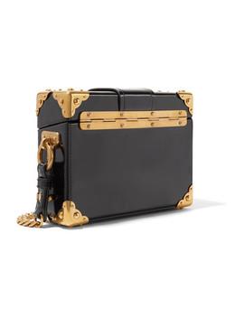 Cahier Box Schultertasche Aus Lackleder by Prada