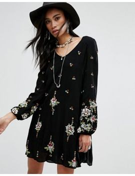 Free People – Besticktes Mini Smock Kleid by Free People