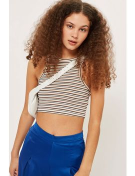 Lurex Striped Racer Top by Topshop