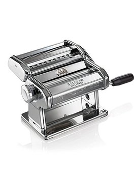 Marcato Atlas Pasta Machine, Made In Italy, Chrome, Includes Pasta Cutter, Hand Crank, And Instructions by Marcato