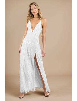 Swoon Over You White Lace Maxi Dress by Tobi