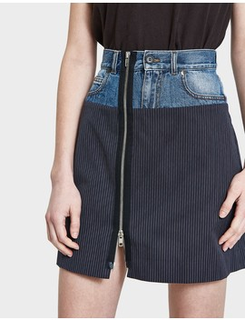Pinstripe Cotton Skirt by Need Supply Co.