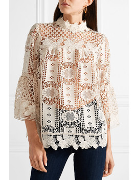 Guipure Lace Top by Anna Sui