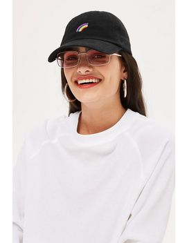 Rainbow Embroidered Cap by Topshop