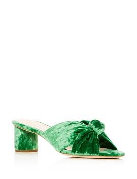 Women's Celeste Suede Knot Mid Heel Slide Sandals by Loeffler Randall